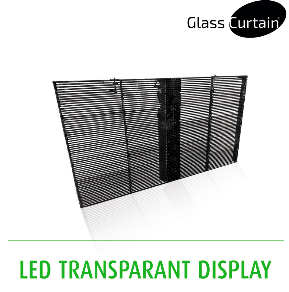 GlassCurtain LED high transparant display