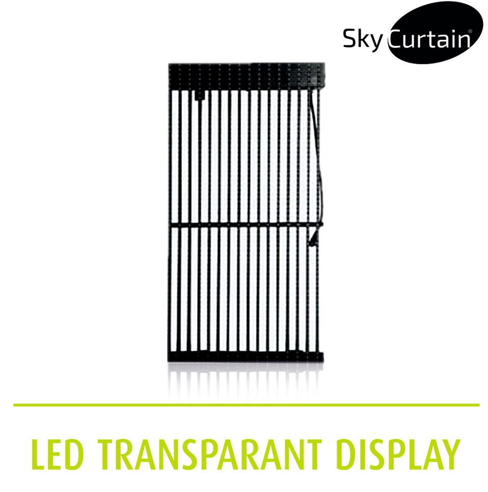 SkyCurtain LED transparant display