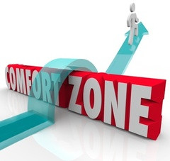 Allowing yourself to get out of your comfort zone!