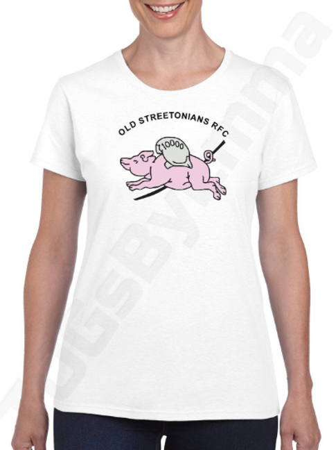WOMEN'S Performance Short Sleeve Tee Official Old Streetonians RFC White