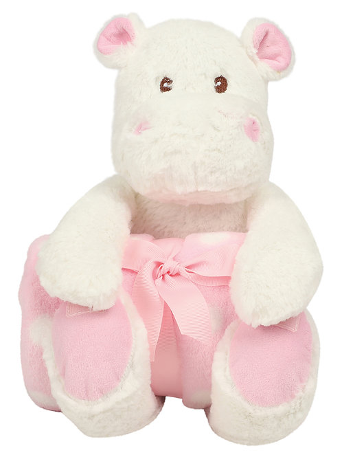 Zippie Hippo & Blanket Pink or Blue MM606