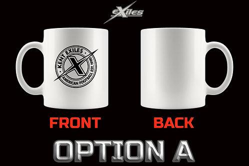 White Mug Official Kent Exiles American Football Club Team - 6 Design Options