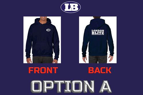 MEN'S Hooded Sweatshirt London Blitz American Football Club Navy