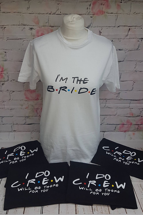 Friends Style Hen/Stag Party Tshirts