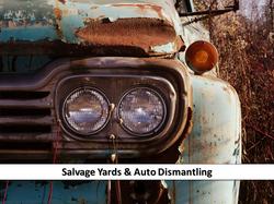 SALVAGE YARDS/AUTO DISMANTLING