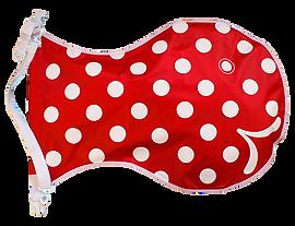 Wickelfisch, Mittel, Rot mit Polka dots