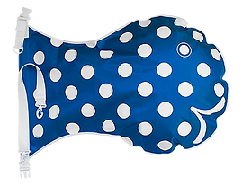 Wickelfisch, Mittel, Blau mit Polka dots