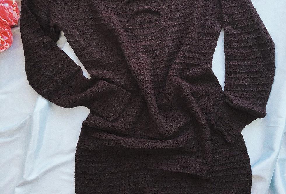 Vestido de tiras de tricot