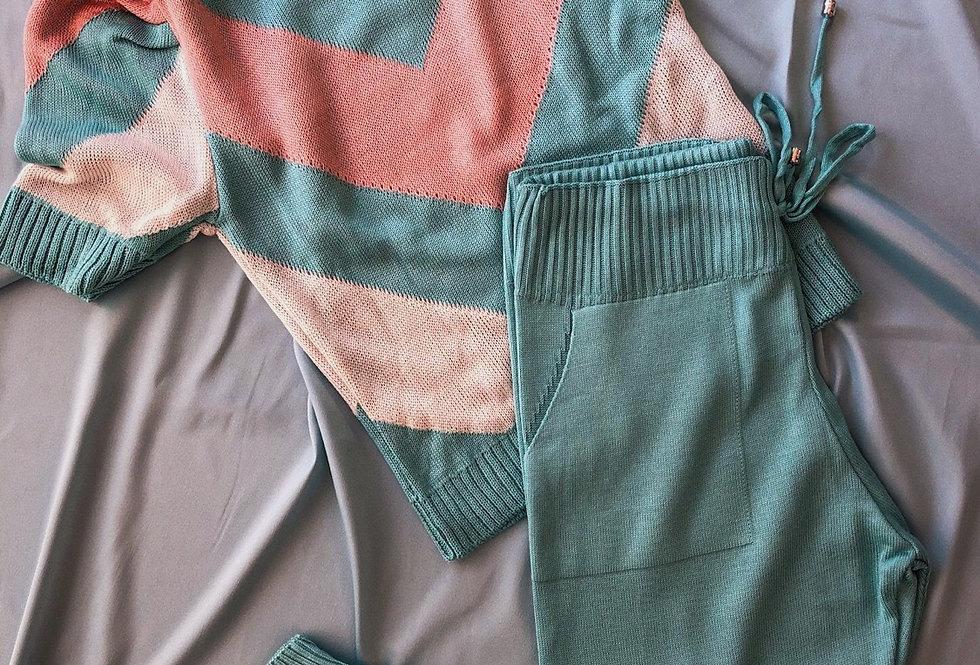 Conjunto Comfy Candy Color de tricot