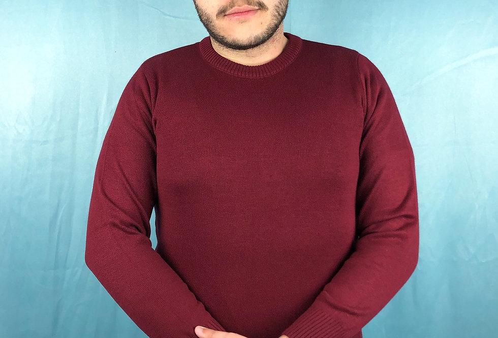Suéter decote careca masculino