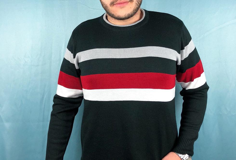 Suéter listrado masculino