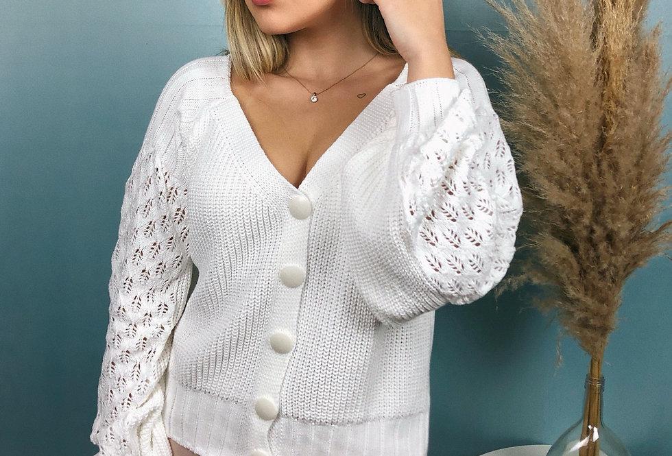 Casaqueto rendado de tricot