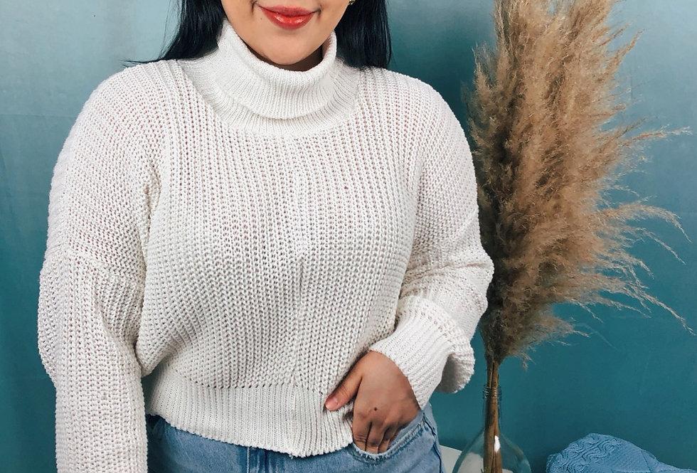 Cropped de tricot