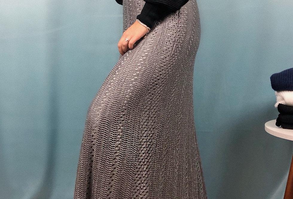 Saia lurex de tricot