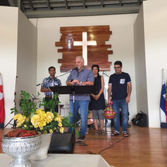 Speaking at he YWAM base