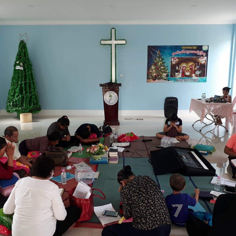 Bible Study at a village that