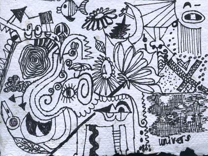 Elefant aus Tinte