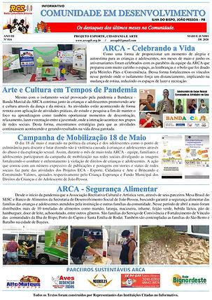 Jornal Comunitário Edição Nº 11 - Pag.1.