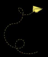 Avião de Papel amarelo.png