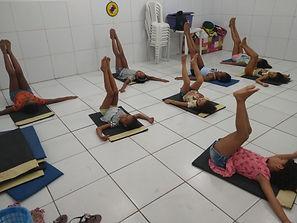 Crianças nos treinamentos Inicial de GRD.