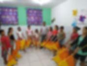 Ensaios de coreografias com o grupo de 05 a 12 anos turno da Manhã.