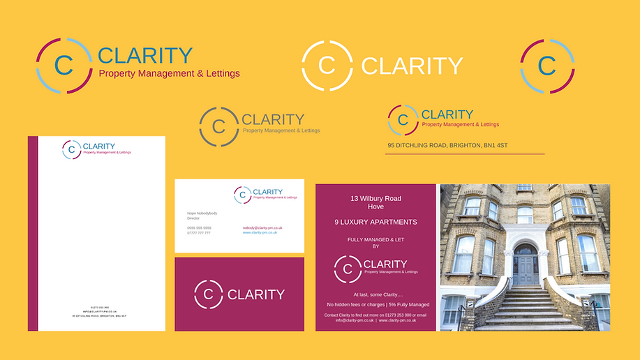 Clarity Graphic Design Poster Landscape.