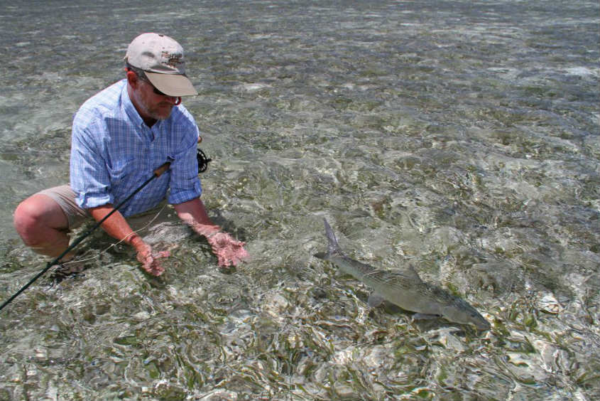 Each bonefish that comes to hand is a learning experience. Photo courtesy H20 Bonefishing