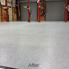 Smoke Epoxy Coating in commercial shop in Raleigh NC
