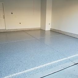 Best Garage Coating in Morrisville NC finished in Dakota Grey flake color