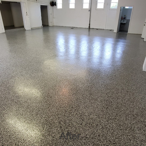 Tuxedo Epoxy Coating in warehouse in Durham