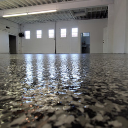 Warehouse in Durham NC finished in Tuxedo flake color