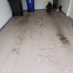 Unprofessionally installed epoxy coating system in Mebane NC
