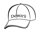 Ball cap with Dewar's logo correction210