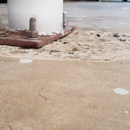 Concrete Damage in Cary NC - Before