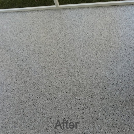 Dakota Grey Epoxy Coating Patio in Pittsboro