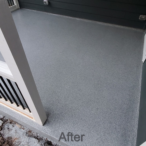 Grey Epoxy Coating Patio in Hillsborough NC