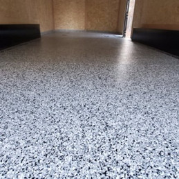 Enclosed Trailer finsihed in Tuxedo flake color in Raleigh NC