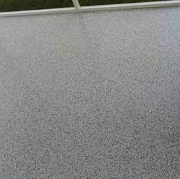 Patio in Hillsborough NC finished in Grey flake color