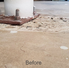 Concrete Damage on garage floor in Cary NC