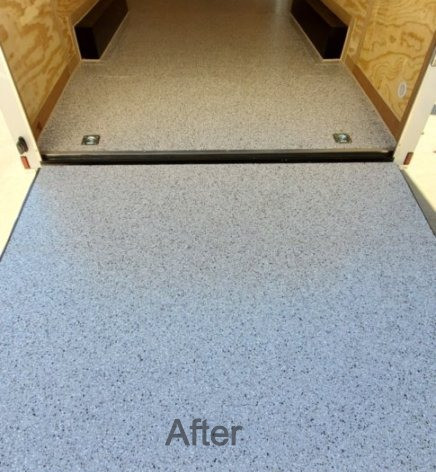 Smoke Epoxy Coating for enclosed trailer in Raleigh