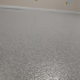 Basement Room in Chapel Hill NC finished in Coastal Blue flake color