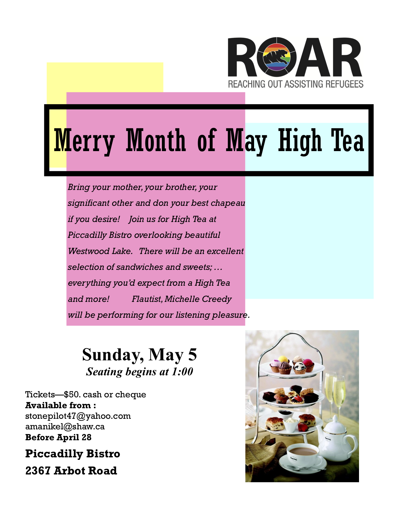 High Tea, May 2019