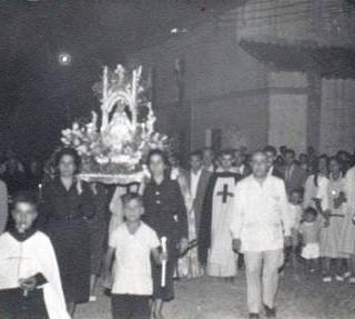 Procesión en el año 1955