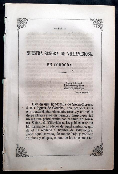 """La adquisición del texto de la Virgen de Villaviciosa en """"IMÁGENES DE LA VIRGEN MARÍA APARECIDAS EN"""