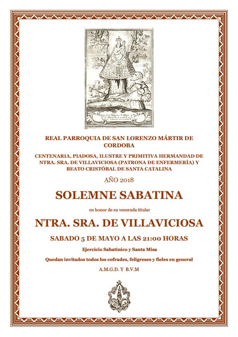 Solemne Sabatina a Ntra. Sra. de Villaviciosa
