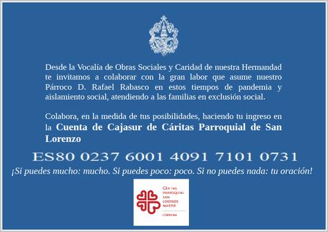 EMERGENCIA Y CARIDAD: TIEMPOS DE COVID-19