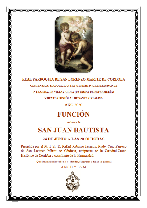 Función en honor a San Juan Bautista
