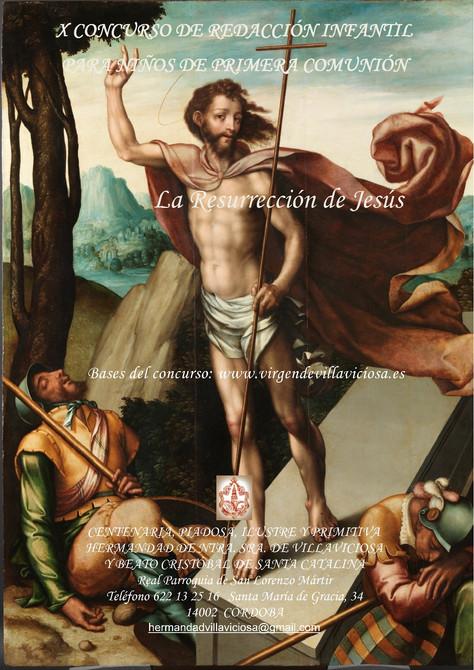 """X CONCURSO DE REDACCIÓN INFANTIL PARA NIÑOS DE 1ª COMUNIÓN """"LA RESURRECCIÓN DE JESÚS"""""""