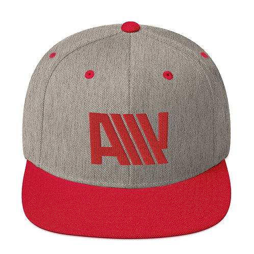 Lean Back Duotone Red Snapback Hat