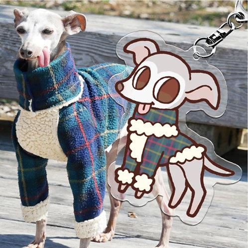愛犬キャラクターキーチェーン
